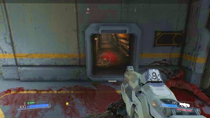 Пройдя один этаж вверх, пройдите рядом с дроном и войдите в комнату справа - Операции с ресурсами |  Секреты - Секреты - Руководство по игре в Doom и прохождение