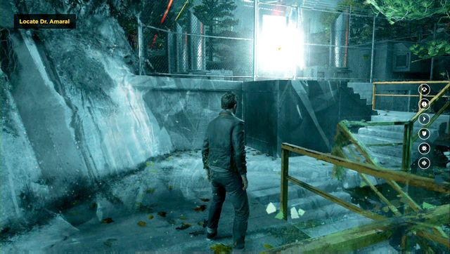 Another secret is located at the top of the stairs. - Chronon Sources (act III) - Secrets - Quantum Break - Game Guide and Walkthrough