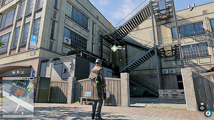 The secret can be found on the roof, accessed through the staircase shown on the screenshot above - Key data - locations from 13 to 24 - Collectibles - Watch Dogs 2 Game Guide