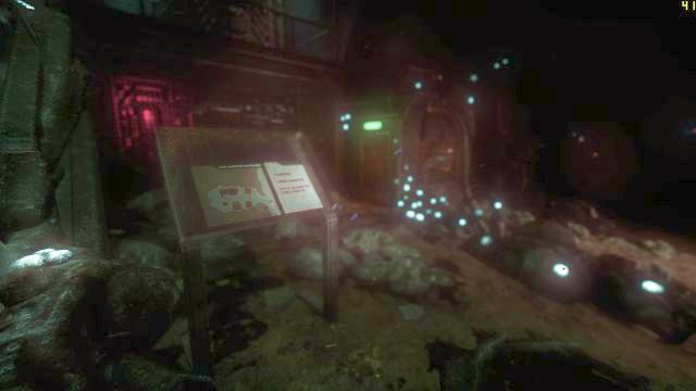 The board, and the entrance to a building with a Data Buffer. - On the way to the Tau station | Collectibles in SOMA Game - Collectibles - SOMA Guide
