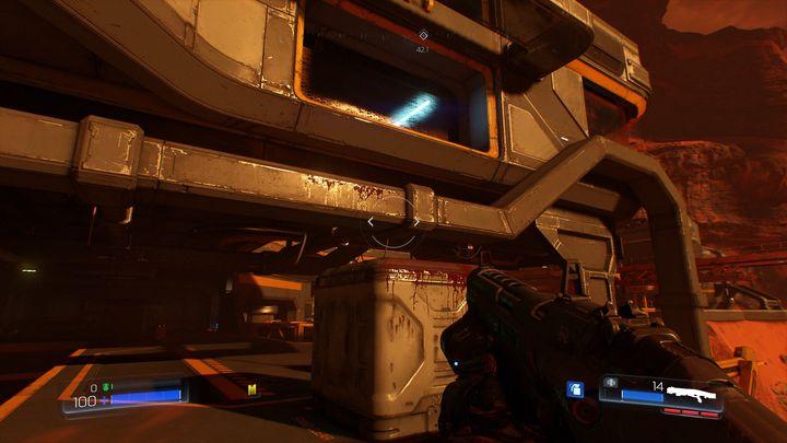 Между броней и лифтом большой сундук - Ресурс Операции |  Секреты - Секреты - Руководство по игре в Doom и прохождение