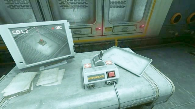 Use the controller to move the laser. - Omicron station | Riddles and puzzles of SOMA Game - Riddles and puzzles - SOMA Guide