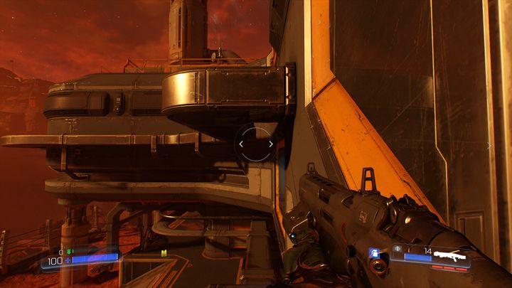 Идите по стволу направо, развернитесь и поднимитесь выше - Операции с ресурсами |  Секреты - Секреты - Руководство по игре в Doom и прохождение