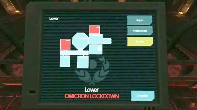 The last terminal used to unlock rooms on the lower floor. - Omicron station | Riddles and puzzles of SOMA Game - Riddles and puzzles - SOMA Guide