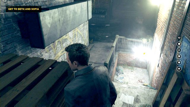Directly in front of the starting position, in a small recess. - Chronon Sources (act IV and V) - Secrets - Quantum Break - Game Guide and Walkthrough