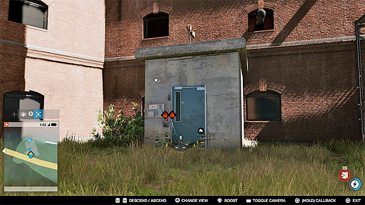 Key data can be found in the small cabin show on the picture, which is located right next to the main entrance to the fort - Key data - locations from 13 to 24 - Collectibles - Watch Dogs 2 Game Guide