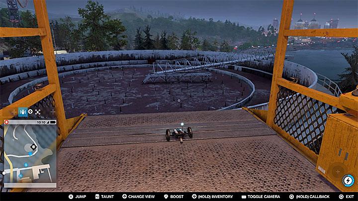 Эта точка находится на крыше огромного, казалось бы, недоступного бункера - Точки исследования - карта, локации 1-61 - Коллекционирование - Руководство по игре Watch Dogs 2