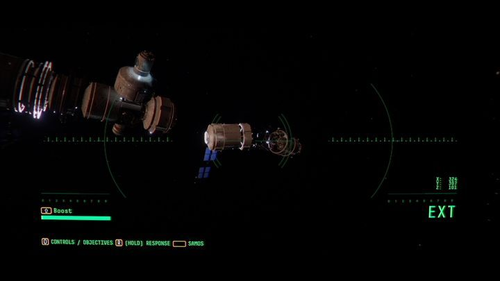 Найдите отсоединенный модуль станции (возле EAS-10) и загляните внутрь - III.  Первая космическая прогулка    Прохождение Наблюдения - Прохождение - Руководство по Наблюдению