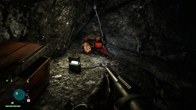 You will find the mask inside a cave, on the second platform - Northern and north-eastern Kyrat - Yalungas Masks - Far Cry 4 - Game Guide and Walkthrough