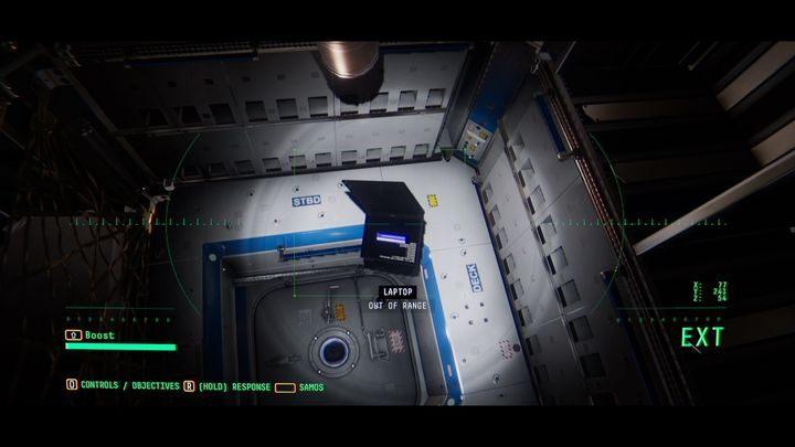 Там есть ноутбук - III.  Первая космическая прогулка    Прохождение Наблюдения - Прохождение - Руководство по Наблюдению