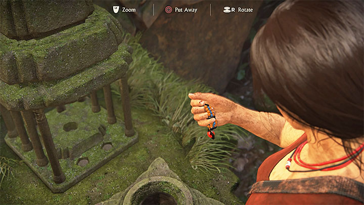 After finding all the tokens, go back to the same room and interact with the socle at the bottom of the map - this will transfer the tokens to the stone map - How to find the Queens Ruby (simpler treasure hunts)?   FAQ - FAQ - Frequently Asked Questions - Uncharted: The Lost Legacy Game Guide