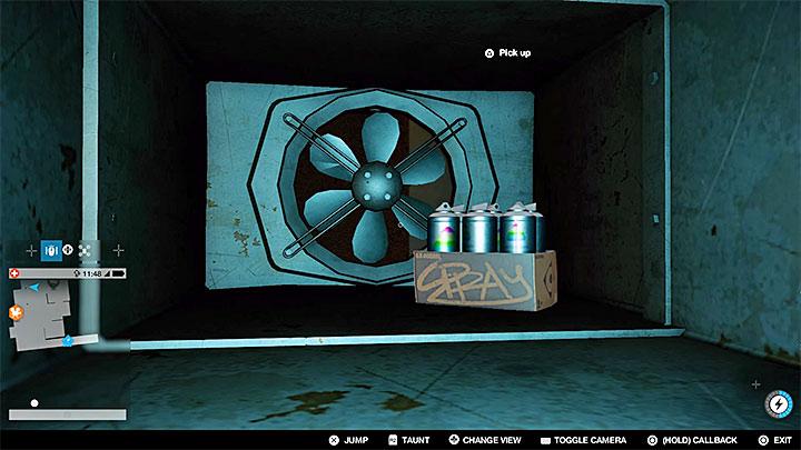 Оставайтесь в вентиляционной шахте и используйте только что полученный ключ доступа, чтобы разблокировать последнюю часть шахты - Покрасочные работы, одежда и уникальные транспортные средства - Коллекционирование - Руководство по игре Watch Dogs 2