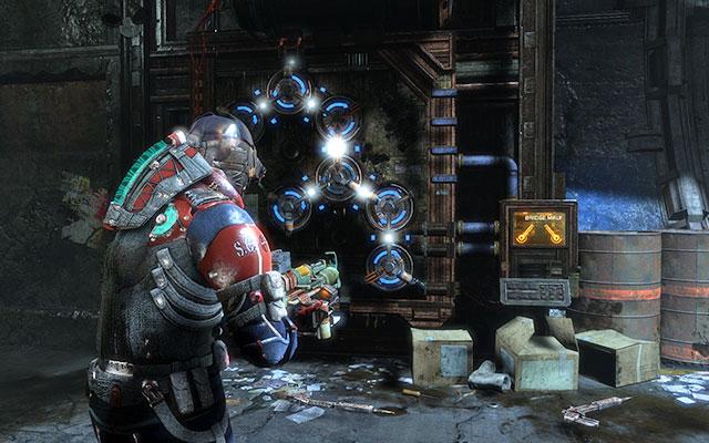 Идите вперёд, собирая припасы со стеновых шкафчиков - Отыщите все, что пережило чистку    Побочные миссии: Службы утилизации - Побочные миссии: Службы утилизации - Dead Space 3 Game Guide