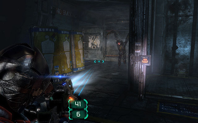 Cross the room with the workbench and empty all lockers here - Investigate the warehouses secrets | Co-op missions: Archeology - Co-op missions: Archeology - Dead Space 3 Game Guide