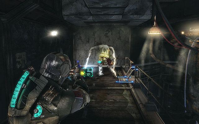 Второй поршень заблокирован, так что вы можете двигаться дальше без проблем - очистите 163-ю казарму жнецов |  Побочные миссии: Казармы Жнецов - Побочные миссии: Казармы Жнецов - Dead Space 3 Руководство по игре