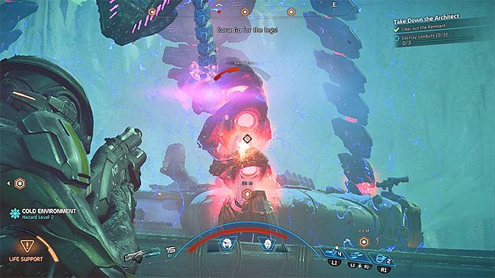 Стреляйте в конечности Архитекторов - Как победить Остатка Вельда?  |  Босс борется |  Прохождение - Битвы с боссами - Mass Effect: Руководство по игре Andromeda