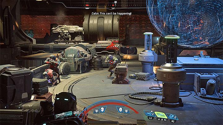 Кало может быть убит с большого или короткого расстояния - Как победить Калота на космическом корабле Кетта?  |  Босс борется |  Прохождение - Битвы с боссами - Mass Effect: Руководство по игре Andromeda