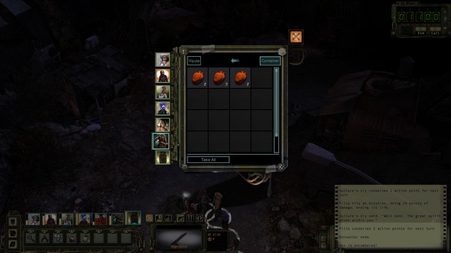 Searching of the stash. - Character screen and inventory | The basics of the gameplay - The basics of the gameplay - Wasteland 2 Game Guide & Walkthrough