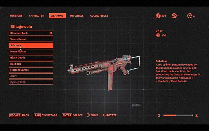 You can also change the skin for each weapon you use - Can I change my characters appearance in Wolfenstein Youngblood? - FAQ - Frequently Asked Questions - Wolfenstein Youngblood Guide