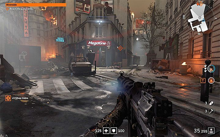 Wolfenstein: Youngblood rewards with many bonuses for exploring the area - Starting Tips for Wolfenstein Youngblood - Basics - Wolfenstein Youngblood Guide