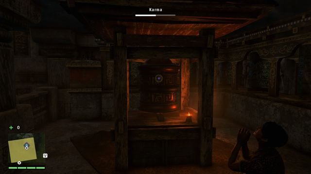 You will find this wheel in the monasterys main hall, on the right - Southern and central Kyrat - Mani Wheels - Far Cry 4 - Game Guide and Walkthrough