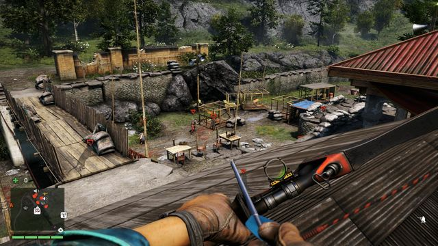 Most of the enemies are located near the cages. - Shanath Training Ground - Outposts - Two alarms - Far Cry 4 - Game Guide and Walkthrough
