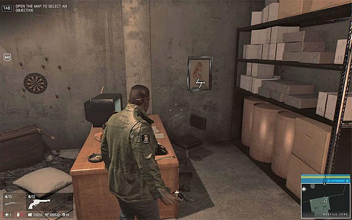 Reach the small room - Vargas paintings   Secrets - Secrets - Mafia III Game Guide
