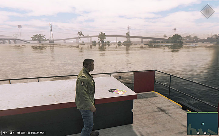 Once you reach the marked place, find the ship shown on picture 1 and get on its deck - Music albums   Secrets - Secrets - Mafia III Game Guide