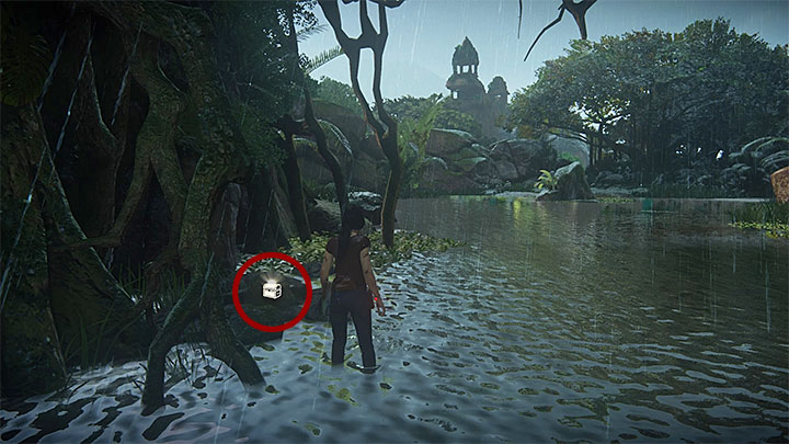 This treasure is under one of the bridges between the central ruins and the area surrounding the gate to Halebidu - 4 - Treasures in Wester Ghats | Secrets - Secrets - Uncharted: The Lost Legacy Game Guide