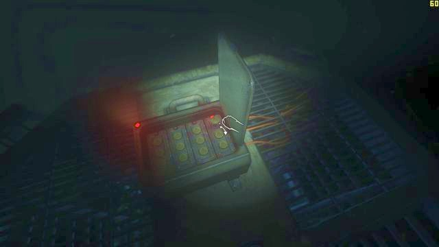 To restore the power, you must press the fuse back in. - The descent | Riddles and puzzles of SOMA Game - Riddles and puzzles - SOMA Guide