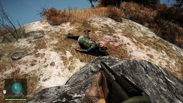Take the mask off the dead body located behind a large rock - Northern and north-eastern Kyrat - Yalungas Masks - Far Cry 4 - Game Guide and Walkthrough