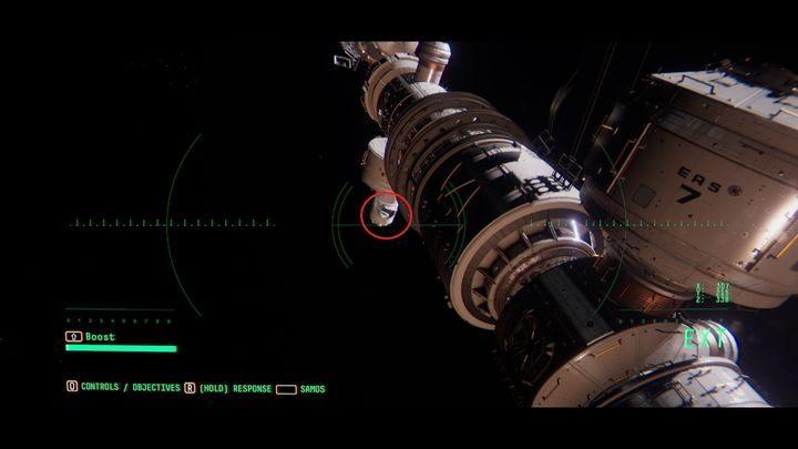 Вернитесь на станцию, к модулю EAS-11 - III.  Первая космическая прогулка    Прохождение Наблюдения - Прохождение - Руководство по Наблюдению