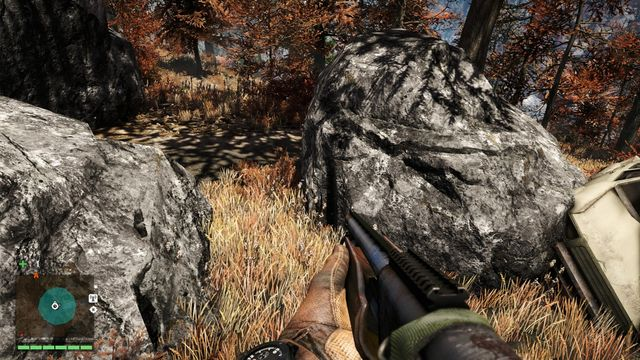Close to the road, near some rocks, you will notice a wreck of a car - Northern and north-eastern Kyrat - Yalungas Masks - Far Cry 4 - Game Guide and Walkthrough