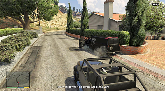 Target the tires of the van that you are chasing - Snatched - Random events - Grand Theft Auto V Game Guide