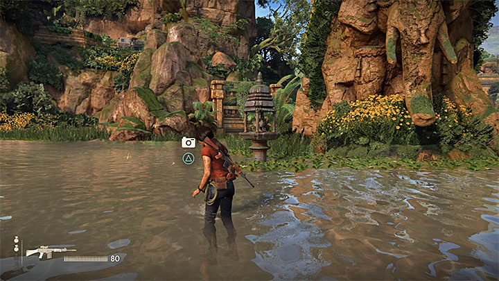 The picture above shows the location where you can take another photo - 4 - Photos, optional conversations and lockboxes in Wester Ghats | Secrets - Secrets - Uncharted: The Lost Legacy Game Guide