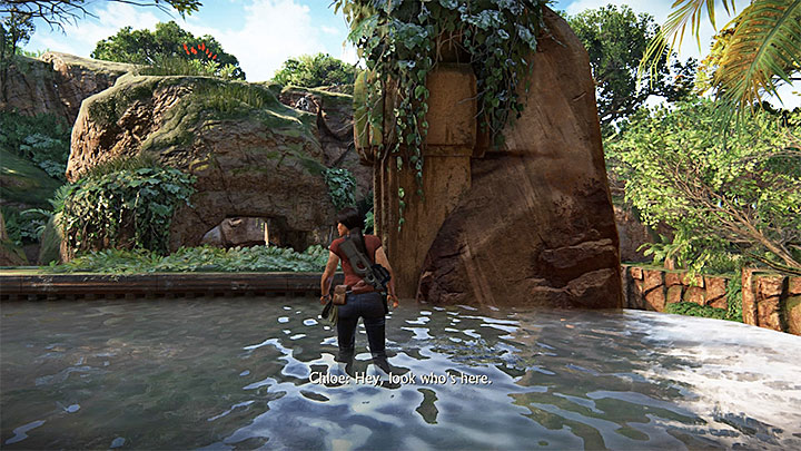 You take both of the photos in the North-Eastern ruins, where you find the stone map with token whereabouts - 4 - Photos, optional conversations and lockboxes in Wester Ghats | Secrets - Secrets - Uncharted: The Lost Legacy Game Guide