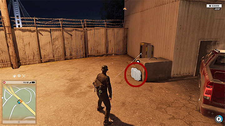 The key data are located in the suitcase visible on the screenshot, which is located in a restricted area on the Island - Key data - locations from 1 to 12 - Collectibles - Watch Dogs 2 Game Guide