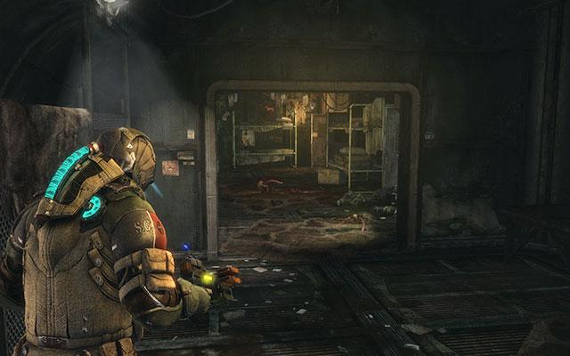 Пройдите дальше через две комнаты, пока не доберетесь до комнаты с кроватями - Уничтожьте 163-ю казарму Жнеца |  Побочные миссии: Казармы Жнецов - Побочные миссии: Казармы Жнецов - Dead Space 3 Руководство по игре