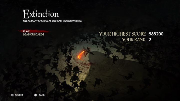 A mode in which you will have one life and you will need to defeat as many enemies and get as many points as possible - Game Modes in Extinction - Basics - Extinction Game Guide