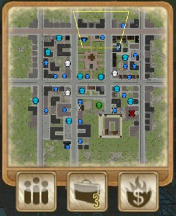 Minimap and icons: Gang Management, Jobs (3 new) and Fire Sale. - Main View - Strategy - Omerta: City of Gangsters - Game Guide and Walkthrough