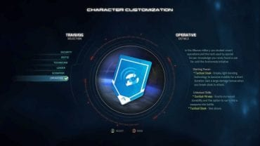 Operative training selection. - Operative | Trainings - Character training - Mass Effect: Andromeda Game Guide