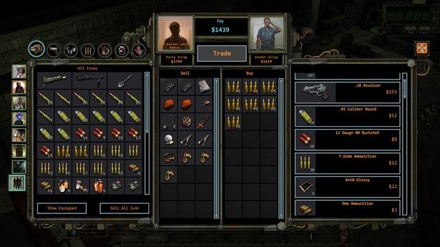 Shopping window. - Barter | The basics of the gameplay - The basics of the gameplay - Wasteland 2 Game Guide & Walkthrough