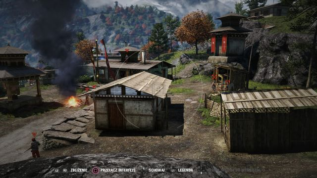 Eliminate the hunter on the right and free the tiger - it will make a lot of mess and kill a few enemies. - Seven Treasures Ashram - Outposts - One alarm - Far Cry 4 - Game Guide and Walkthrough