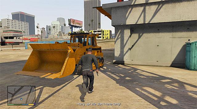 The bulldozer - Construction site accident - Random events - Grand Theft Auto V Game Guide