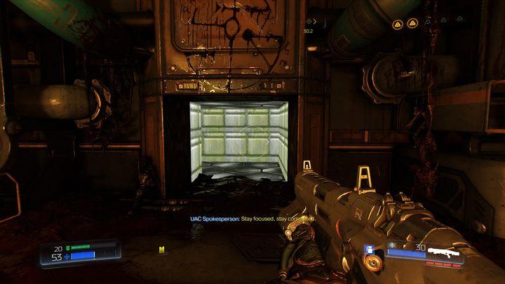 Это откроет проход на другой стороне моста - Литейный цех |  Секреты - Секреты - Руководство по игре в Doom и прохождение