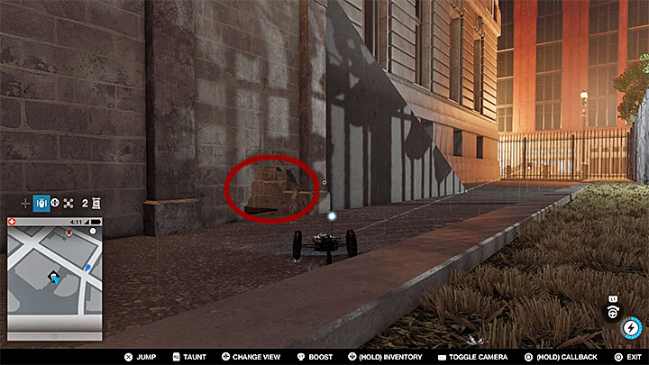 This point is inside the building surrounded with an indestructible fence - Research points - locations 62-112 - Collectibles - Watch Dogs 2 Game Guide