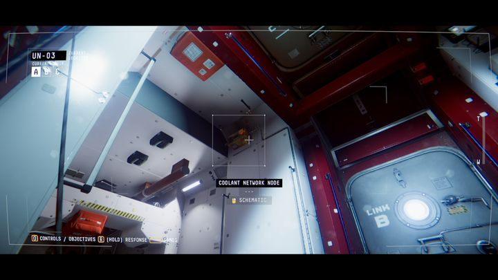 В той же комнате вы найдете три устройства, которые называются COOLANT NETWORK NODE - IV.  Центр    Прохождение Наблюдения - Прохождение - Руководство по Наблюдению
