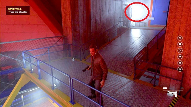 On the stairs of the university laboratory. - Chronon Sources (act IV and V) - Secrets - Quantum Break - Game Guide and Walkthrough