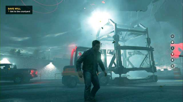 Above the forklift after leaving the parking lot. - Chronon Sources (act IV and V) - Secrets - Quantum Break - Game Guide and Walkthrough