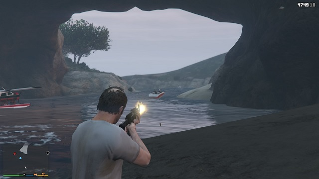 Schematically: we murder everyone and get the prize. - Hydroplane Dodo - Other Quests - Grand Theft Auto V Game Guide